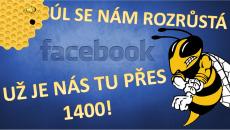 1400 fans na FB