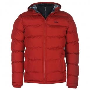 Pánská bunda Lee Cooper 2 Zip - Červená