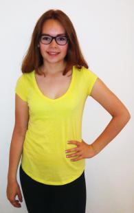 Dámské triko Terranova, žluté