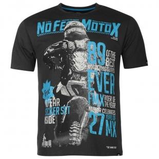 Pánské triko No Fear - Černomodré