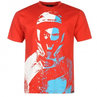 Pánské triko No Fear - Červené