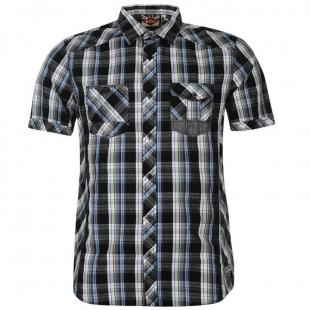 Pánská košilě Lee Cooper - černomodrá