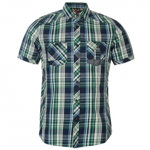 Pánská košilě Lee Cooper - Navy,zelená