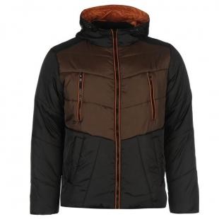 Pánská bunda Everlast Padded, hnědo-černá