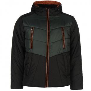 Pánská bunda Everlast Padded, černo-zelená