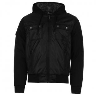 Pánská bunda Everlast Lined Zip, Černá