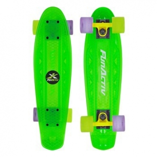 Skateboard FunActive PAUD CLEAR - Zelený
