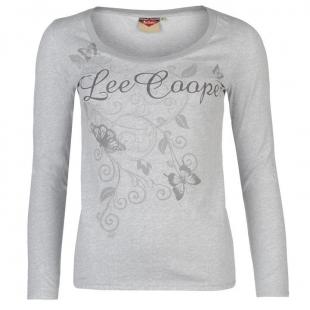 Dámské triko Lee Cooper, světle šedé