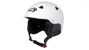 Lyžařská helma ACTION matná bílá s černou - velikost M (58-59)