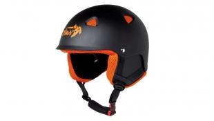 Lyžařská helma ACTION matná černá s oranžovou - velikost M (58-59)