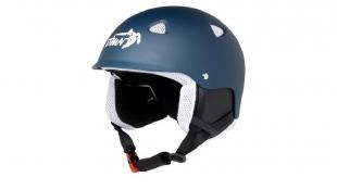 Lyžařská helma ACTION matná modrá s bílou - velikost L (60-61)