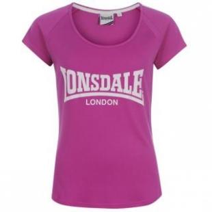 Dámské triko Lonsdale 2 Stripe Large Logo - Navy