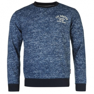 Lee Cooper Tex AOP Crew Sweater Mens