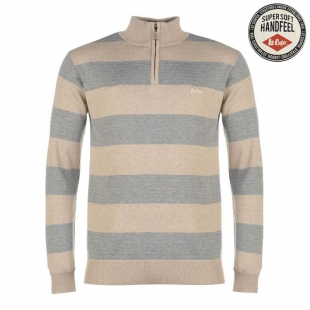 Lee Cooper Quarter Zip Knit Jumper Mens