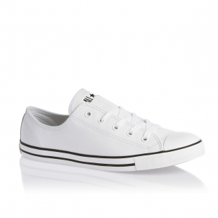 Boty Converse kožené - bílé