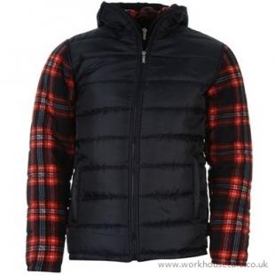 Pánská Bunda lee coooper Poly Fleece Sleeve jacket - červená