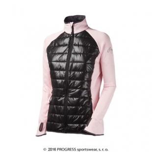 DINARA dámská sportovní hybridní bunda Progress (tmavě růžová - černá)