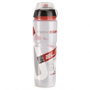 ELITE - láhev SUPER CORSA MTB čirá, červené logo, 750 ml