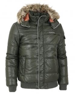 Pánská zimní bunda Kixmi Bennett černozelená