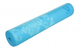 Karimatka Yoga s potiskem 173x61x0,6cm - modrá