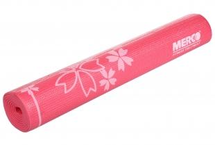 Karimatka Yoga s potiskem včetně obalu 173x61x0,4cm - růžová