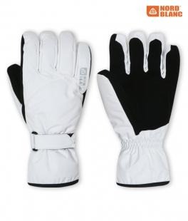Unisex lyžařské rukavice - bílé