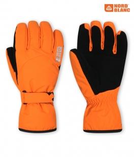 Unisex lyžařské rukavice - oranžové