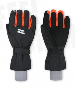 Unisex lyžařské rukavice - černo/oranžové