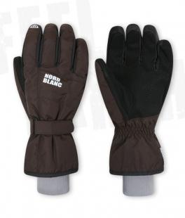 Unisex lyžařské rukavice - hnědé