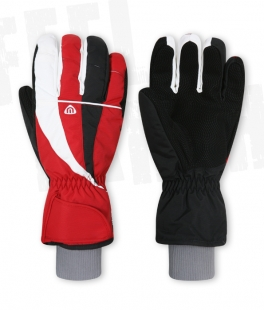 Unisex lyžařské rukavice - červené