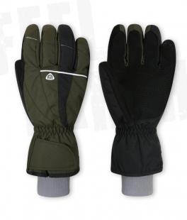 Unisex lyžařské rukavice - khaki
