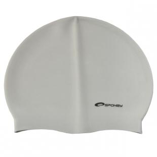 Summer koupací silikonová čepice, stříbrná