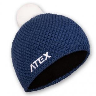 Pletená čepice KNIT modrá