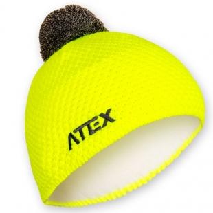 Pletená čepice KNIT neon-žlutá
