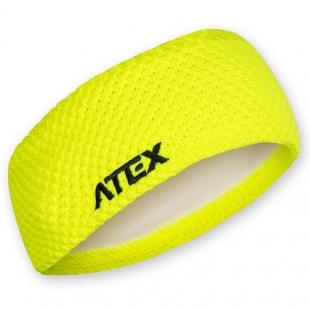 Pletená čelenka KNIT neon-žlutá