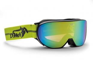 Lyžařské brýle DEMON - Cylinder Matt Black Yellow