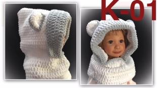 Ručně pletená dětská kukla
