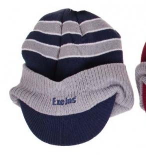 Zimní čepice ExeJns s kšiltem, modrá