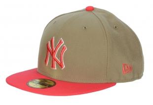 Kšiltovka New Era 59F Baycik Fit MLB New York Yankees - British Khaki/Lava Red/White