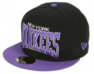Kšiltovka New Era 59F Pro Arch MLB New York Yankees - Black/Varsity Purple