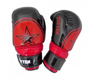 Otevřené rukavice Top Ten BLOCK - černá/červená