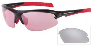 Sportovní sluneční brýle Relax Yelagin černo červené R5336B