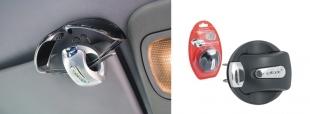 Držák na brýle na stínítko do auta RELAX černá RCC01