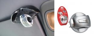 Držák na brýle na stínítko do auta RELAX stříbrná RCC01A