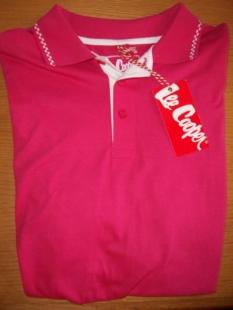 Pánské polo triko Lee Cooper růžové, vel.M