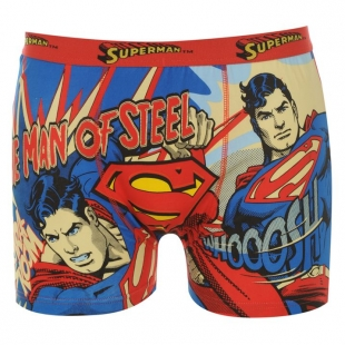 Boxerky Character, Superman, červené