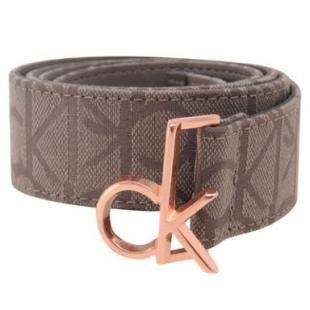 Pásek Calvin Klein, hnědý, dámský