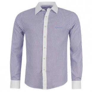 Pánská košile Pierre Cardine modro-bílo-růžová