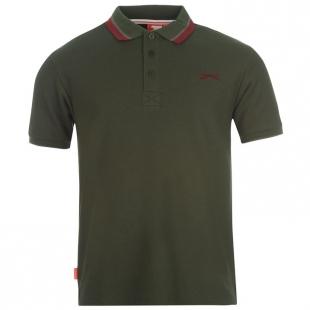 Pánské polo triko Slazenger, tmavě zelené