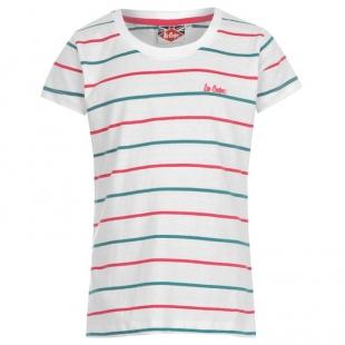 Dívčí triko Lee Cooper, bílorůžová